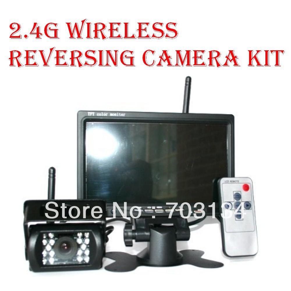 "Car Wireless Reversing Camera Kit 7 Inch Back Up LCD 7"" Digital TFT LCD Car View Monitor + Wireless Reversing Camera(China (Mainland))"