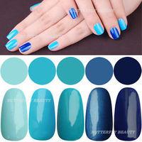 2014 hot Blue Collection Mild East 15ml Soak Off Gel Polish for UV LED Lamp 15ml Varnish