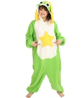 Anime Animal Frog keroro Adult Women Men Unisex Onesie Kigurumi Winter Fleece Pajamas Hooded Sleepwear Christmas Party Dress