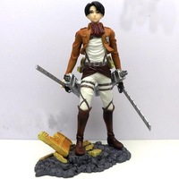 Free shipping Attack On Titan Eren Shingeki no Kyojin Levi Rivaille 1/8 PVC Figure doll toy gift New in box