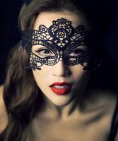 Hot Fashion Photo Photography Lace Black Cutout Mask Goggles Mask Veil Sexy