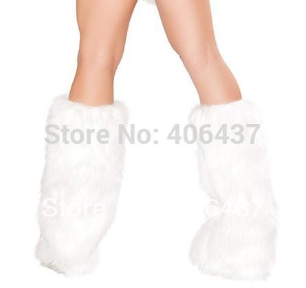 Белый дамы гетры до щиколотки крышки сексуальный женщины искусственный мех , чтобы соответствовать костюм