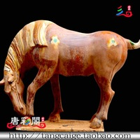 Retro antique finishing horse camel ceramic horse home crafts