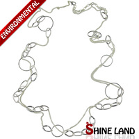 Free Shipping 2014 New Women Fashion Gold/Silver Plated Charms Long Chains Statement Necklaces Jewelry K13627