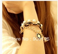 Free shipping Fashion Charm Multilayer Multielement Letter Bracelet