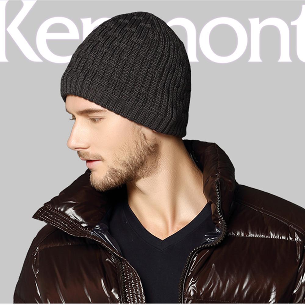Free Shipping Christmas Gift Men's Kenmont Unisex Men Winter Cap Knit Ski Beanie Hat KM-1596(China (Mainland))