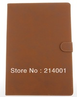 Business style Retro PU Leather Case for ipad5 air with stand holder leather case free shipping