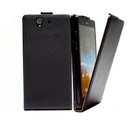 1pcs/lot Luxury Genuine leather case For Sony Xperia Z L36H  real Leather flip Case Flipcover with black,pink,white