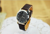 Free Shipping New 2013 fashion men's PU leather strap decompression table quartz watch for men Min.order $10(mix order) HW533