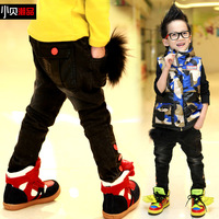 Children's clothing male winter 2013 plus velvet thickening trousers k13168 child warm pants male child
