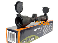 Leapers UTG 4x32 AO RGB(red/green/black) Riflescope Hunting Scope Mil-dot Classic Compact Optics with sun shade Free shipping