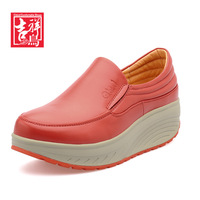 New 2014 Bird women'S pumps genuine leather shoes women fashion rollaround platform wedges women's sneakers brand  w3-13612