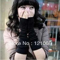 Free Shipping Fashion warm Korean Style arm modeling wrist Fingerless Gloves cuff Half Finger Gloves