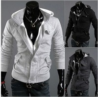 Wholesale winter & autumn men's coat Fashion new brands korea Hoodies long sleeve casual men Jacket M-XXXL Free shipping