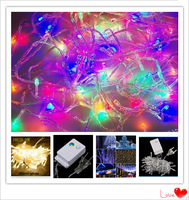 Holiday Sale Outdoor 10m 100 LED string 8 Colors choice , Red/green/RGB Fairy Lights Waterproof Party Christmas Garden lights