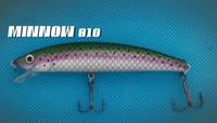 Hot sale Fishing tackle 10 colors Minnow fishing lures 10pcs/lot fishing bait Free shipping