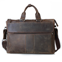 Cattle 2013 crazy horse vintage leather briefcase large capacity handbag cross-body one shoulder man bag 1096