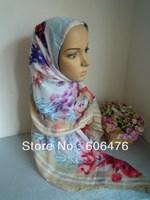 mu1389 Free Shipping printed cotton muslim scarf hijab 120cm*120cm bandana islamic hijab