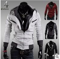 New Arrival 2014 Men's top quality fashion casual sport suit & Sweatshirt slim Men's Hoodies jacket free shipping