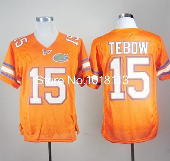 Free Shipping college College Football Jerseys Florida Gators Tim Tebow 15 Orange College Football Jersey
