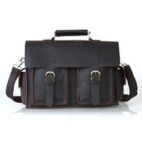 Tiding cattle fashion vintage 2013 13 computer genuine leather man bag briefcase 1088