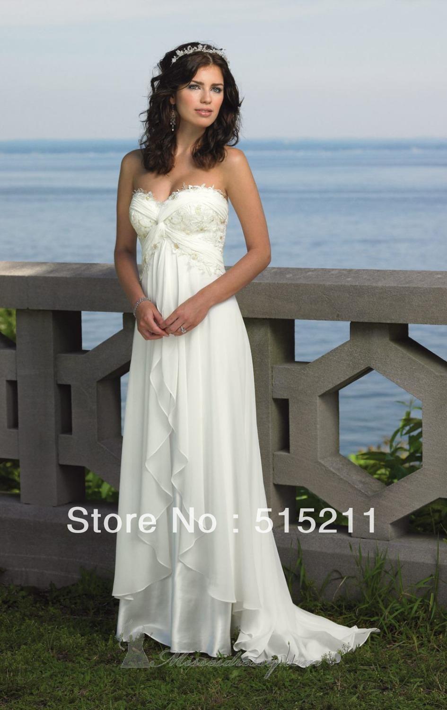 Einfache Chiffon Brautkleider