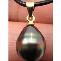 Huge 18mm natural tahitian peacock black pearl pendant