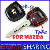 Transonder Key Blank for Mazda TPX Chip