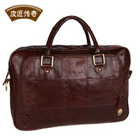 Male bag handbag messenger bag men brief fashion first layer of cowhide genuine leather bag