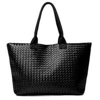 NEW 2014 spring black women's leather handbags woven bags totes designers brand  retro ladies handbag