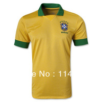 13/14 seasons best thailand quality Brazil home yellow and away soccer jersey ,football shirt RONALDO RONALDINHO ROBINHO NEYMAR