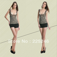 Fashion**Free shipping New Women Leopard Shape Wear Bodysuit Slimming Vest Corset Underwear Postpartum  DropShipping