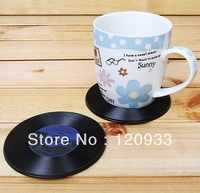 Free shipping 4Pieces/2set  Record Coasters for Music Lover