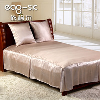 Heidegger silk home textile bedding bed sheet fitted bed skirt