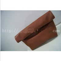 Original minimalist retro candy colored clutch bag curling models female clutch bag Street shooting