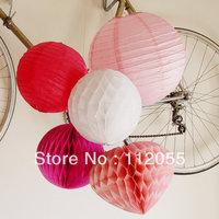 Free shipping 40pcs 20cm  Honeycomb Lantern Wedding / Baby Shower / Birthday Party / Nursery / Festival decoration
