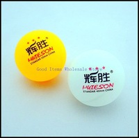 Free Shipping Wholesale  Bulk HUIESON Three-Star 40mm Table tennis Ball Celluloid Material Table Tennis Ball 2 color 1lot/60pcs