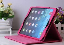 For ipad air leather protective sleeve solid color shell edging coat stents holster third gear(China (Mainland