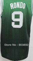 Boston #9 Rajon Rondo adult basketball jerseys drift fashion mix order free shipping