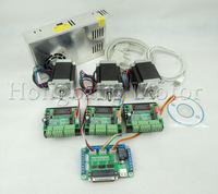 CNC Router Kit 3 Axis, 3pcs TB6560 stepper motor driver +one interface board + 3pcs Nema23 270 Oz-in motor + one power supply