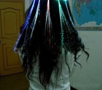 Hot sale!!!Novelty Colorful Hair band Flash LED Braid Gleamy Headwear for Party Holiday Bar festival Gift Toys (80pcs/lot)
