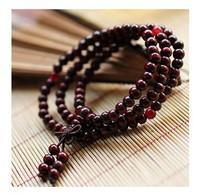 Wholesale Red / Black Sandalwood  Beads Wooden Japamalas Buddha Bracelets Women / men Jewelery  108 Beads 6mm