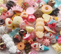 Free shipping Mix Styles Flat back Resin Dessert Cabochons Resin Food Jewelry / Mobile phone DIY Accessory by 500pcs/lot