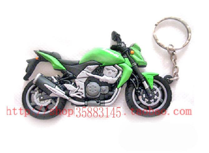 Free shipping Motorcycle model keychain KAWASAKI car keychain red For Jialing Honda Yamaha Suzuki(China (Mainland))