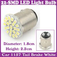 5 pcs/Lot_Car 1157 Tail Brake White 22-SMD LED Light Bulb Lamp_turn signal, corner, parking, side marker, tail , back up lights