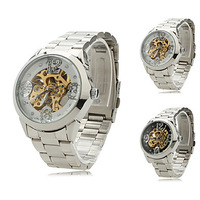 Women's Alloy Analog Mechanical Wrist Watch 9261 (Silver)-WAT10274-Free Shipping