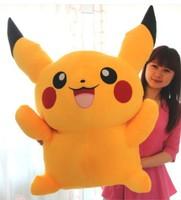 Free Shipping Hot Selling 80cm   Lovely Pikachu Plush Soft Doll Pokemon Plush Toys  Christmas gift