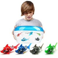 Free shipping 20 pcs Novel Robo Electric Toy Pet Fish With Aquatic for Kid Children Best Gifts Fish Electronic Swimming Sharks