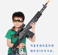 Child electric gun 1 1 artificial gun belt infrared shock gun toy gun sniper rifle