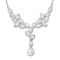 Wholesale Rhinestone Crystal Austrian 2013 new white gold drop pendant necklace lady wedding gift Free shipping
